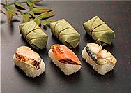 【ゐざさ】冬限定の柿の葉寿司