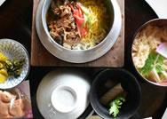 【ならや 東大寺店】甘辛い牛肉と生姜の風味が美味しい「牛釜めし」