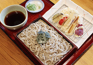 【喜庵】野菜天ぷらが7種類、人気の天ざる