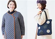 【Ban Inoue】蚊帳生地と綿を重ねた、軽く暖かい「かやキルト」ができました。